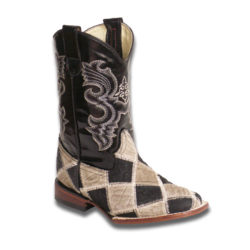 Black-and-Tan-Patchwork-Boots