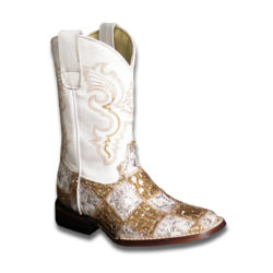 Gold-and-White-Crystal-Patchwork-Boots