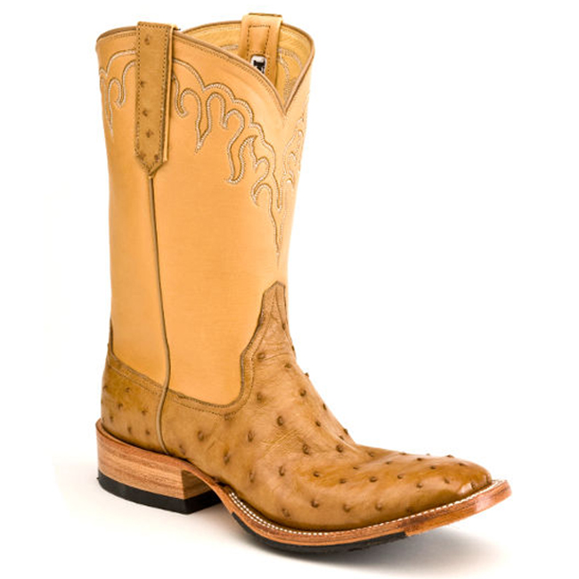 48edd1ce017 Antique Saddle Full Quill Ostrich Boots