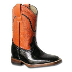 Black-Faux-Gator-Boots