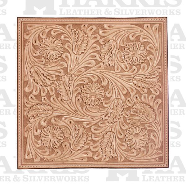 Carved work saddle harris leather silverworks