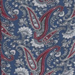 Red-White-Blue Paisley