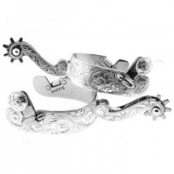 Engraved Silver Spurs