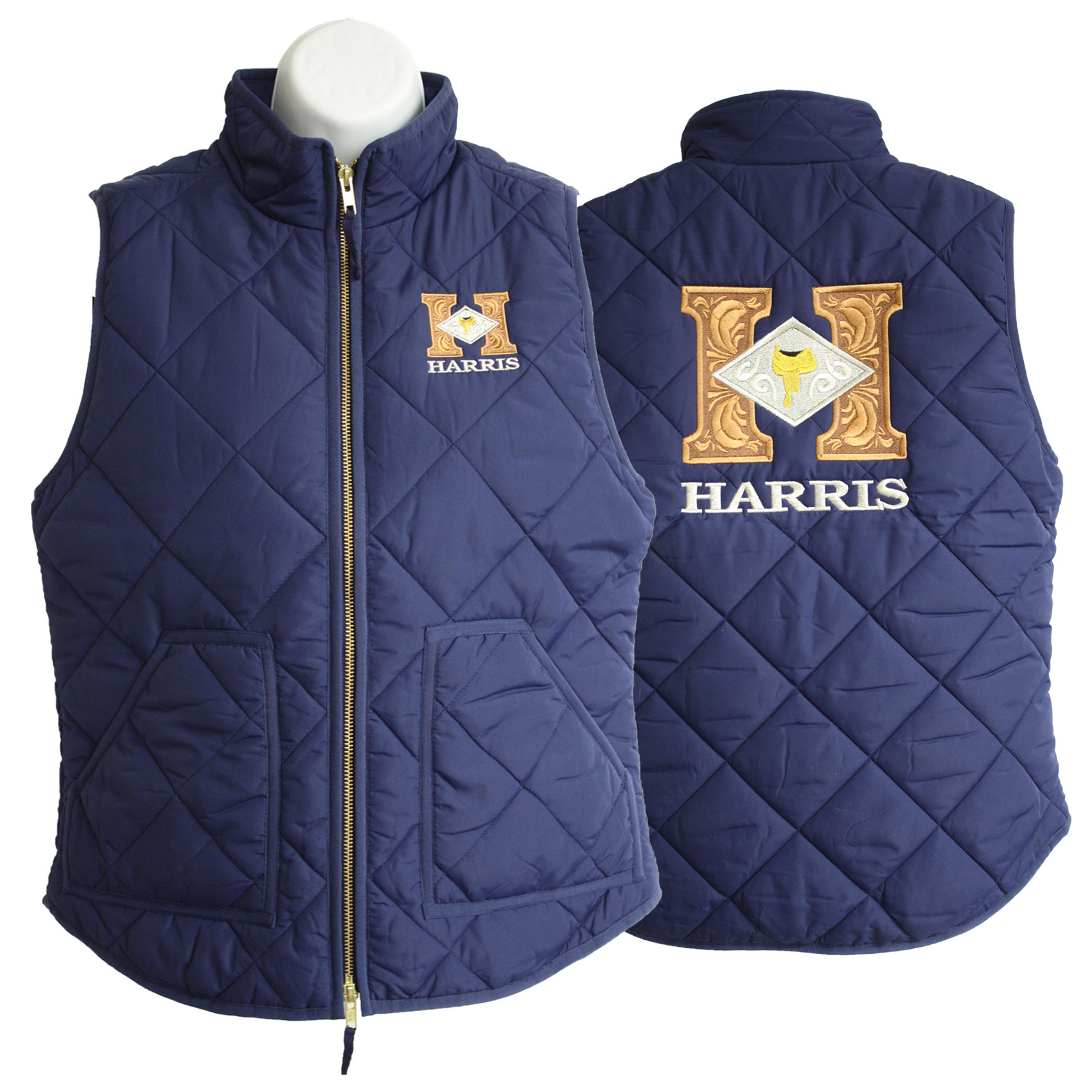 Crew Quilted Vest – Navy | Harris Leather & Silverworks ... : quilted vest navy - Adamdwight.com
