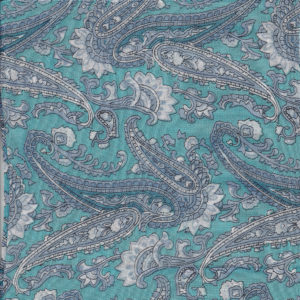 Turquoise Paisley Scarf