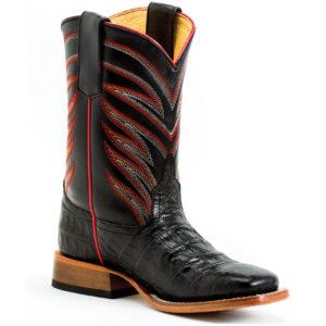 Faux Black Caiman Kids Boots